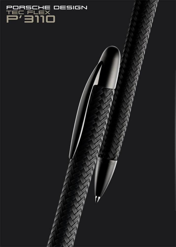 Porsche Design P3100 TecFlex Black PVD Ballpoint Pen