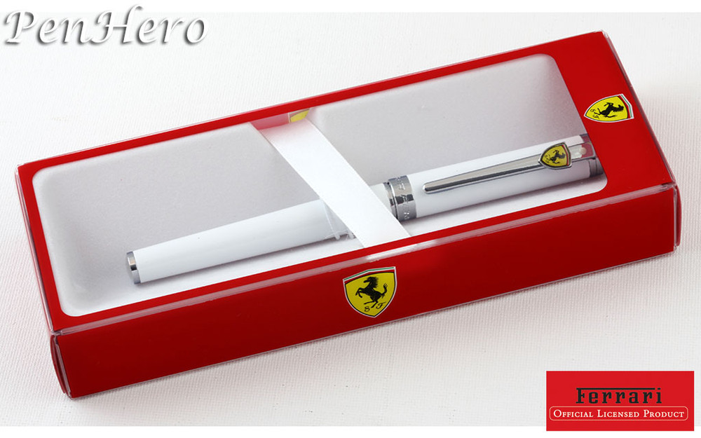 Sheaffer Ferrari Intensity Gloss White Rollerball Pen