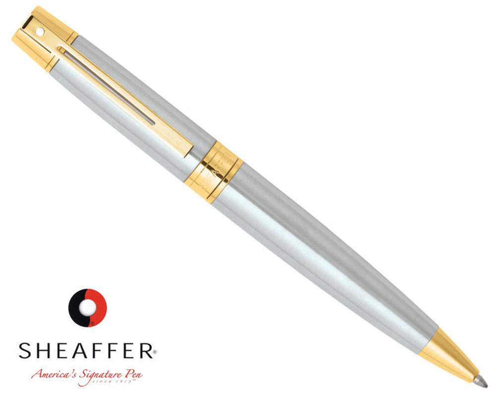 Sheaffer 300 Brushed Chrome G/T Ballpoint Pen