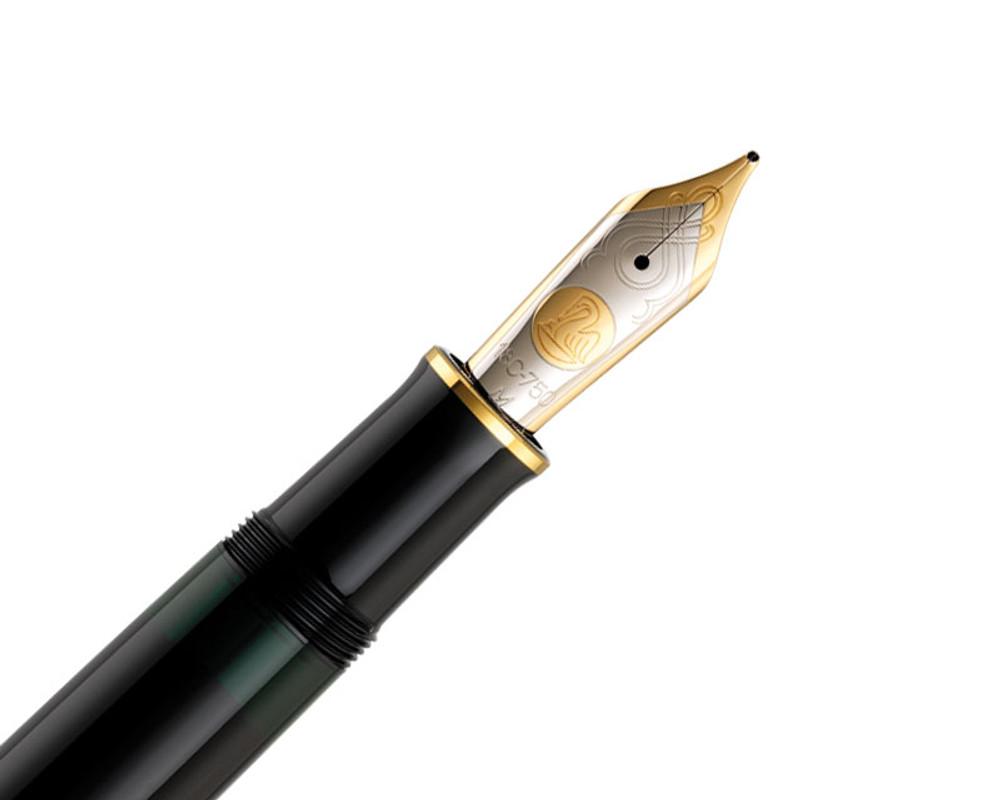 Pelikan Souveran M1000 Black Fountain Pen nib detail
