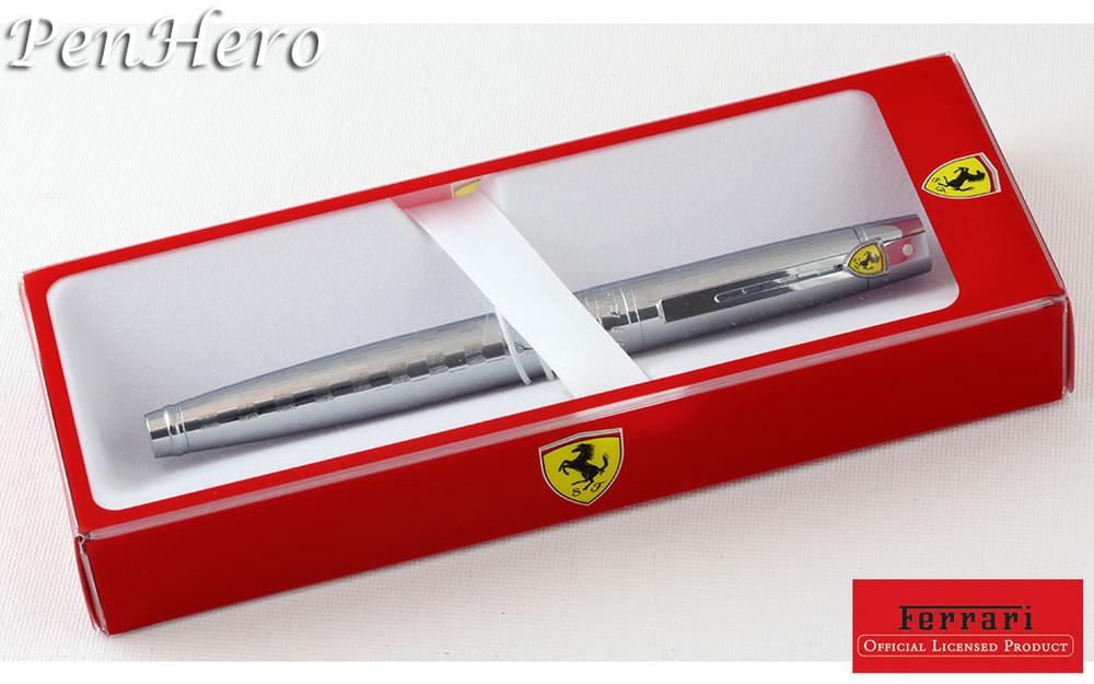 Sheaffer Ferrari 300 Checkered Flag Chrome Rollerball Pen