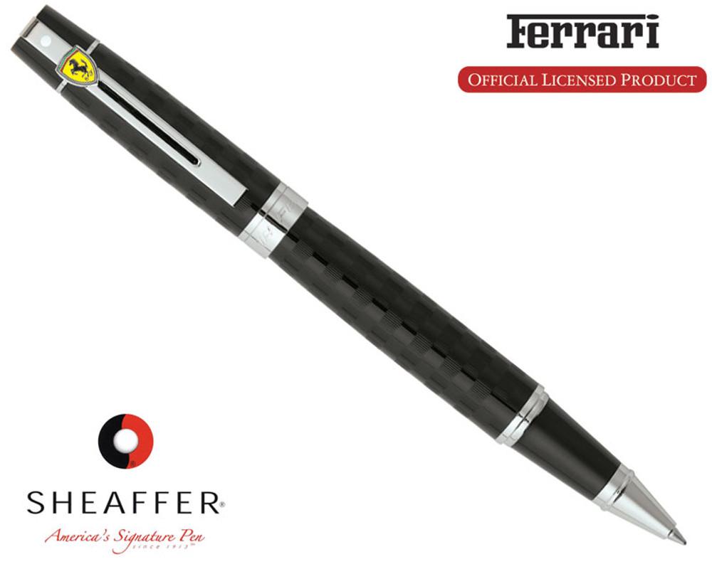 Sheaffer Ferrari 300 Checkered Flag Black Rollerball Pen