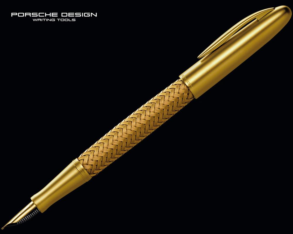 Porsche Design P3100 TecFlex Gold Fountain Pen