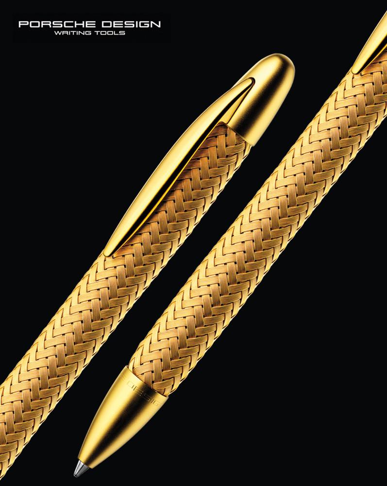 Porsche Design P3100 TecFlex Gold Ballpoint Pen