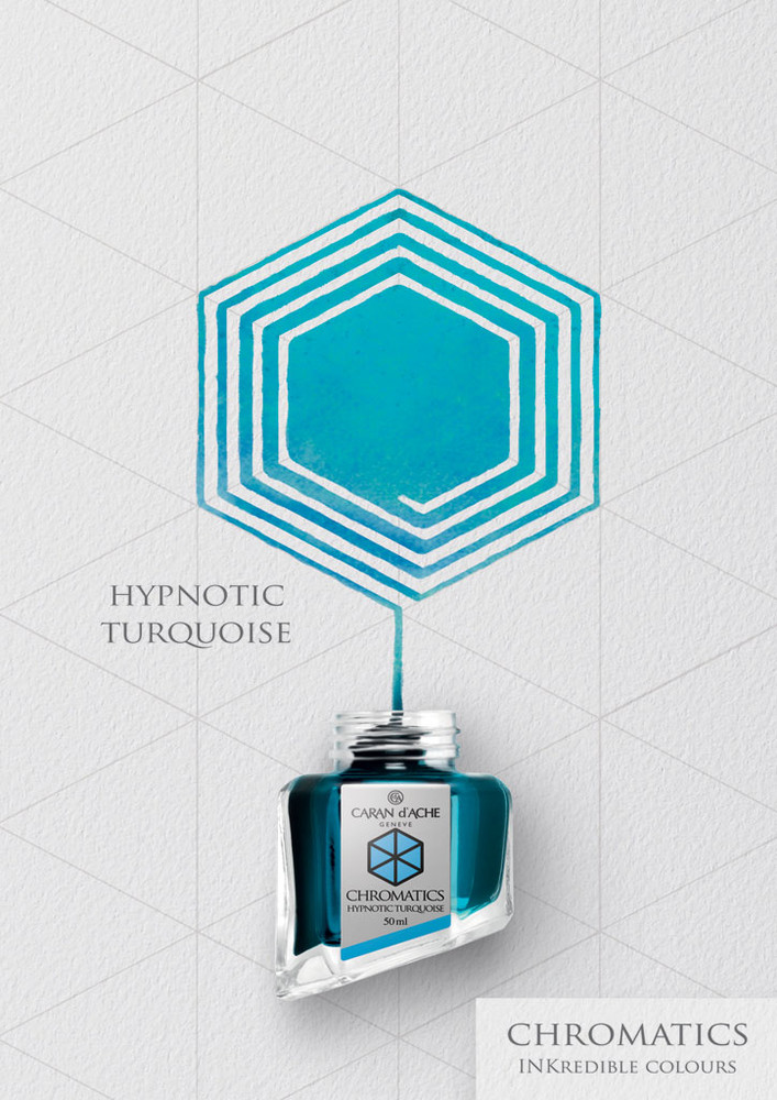 Caran d'Ache Hypnotic Turquoise Ink Bottle
