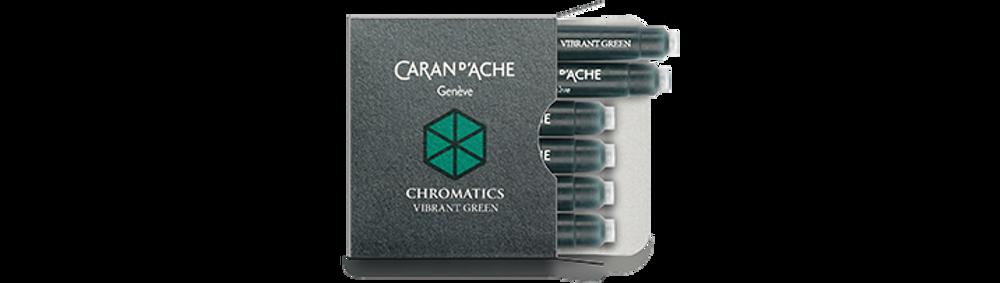 Caran d'Ache Vibrant Green Ink Cartridges