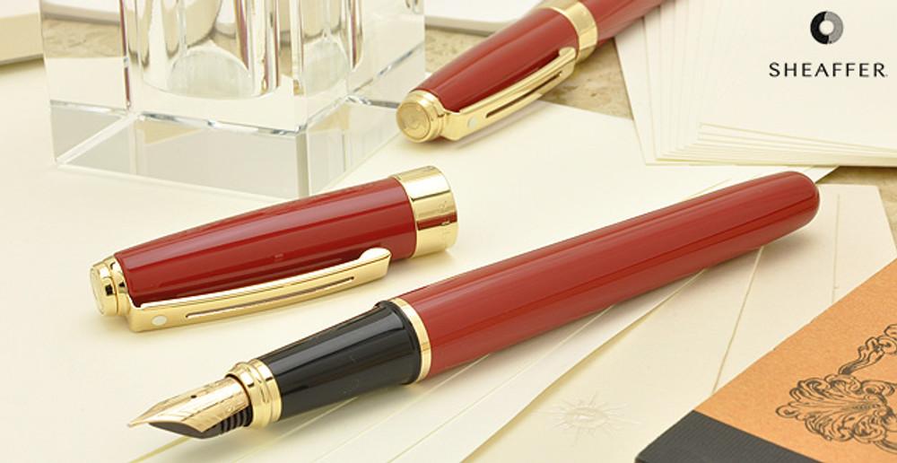 Sheaffer Prelude Signature Red Laque G/T Fountain Pen Medium