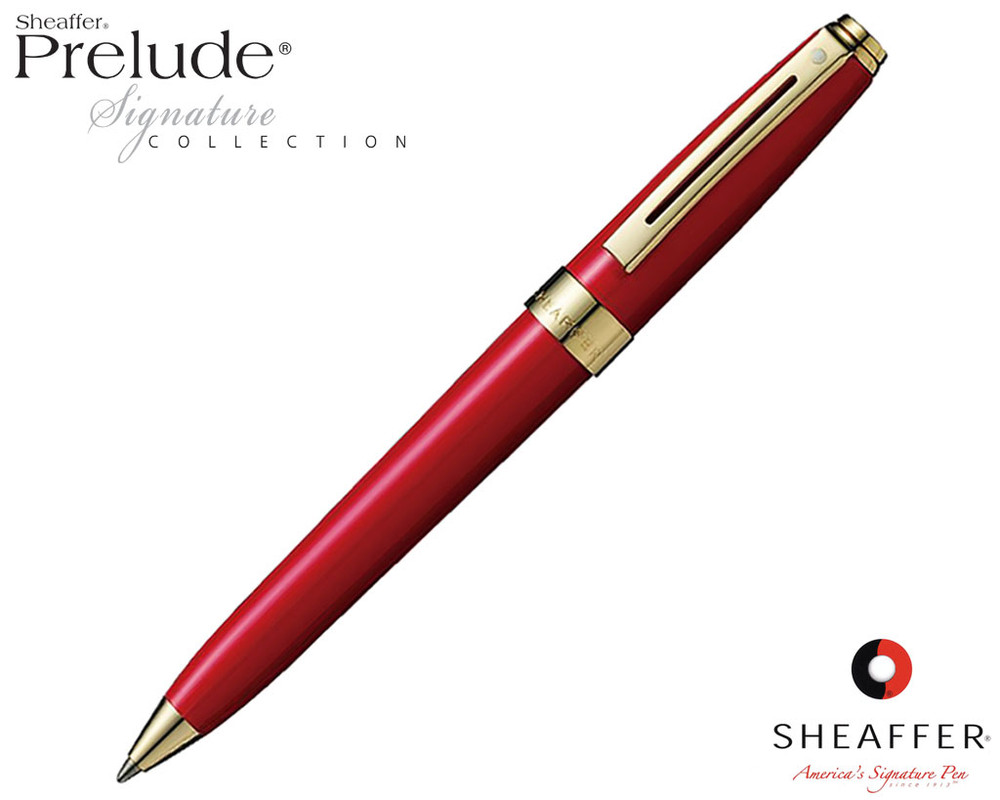 Sheaffer Prelude Signature Red Laque G/T Ballpoint Pen