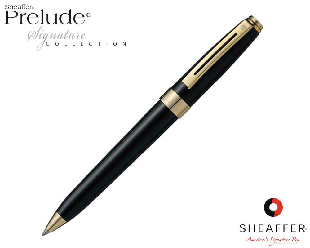 Sheaffer Prelude Signature Black Laque G/T Ballpoint Pen