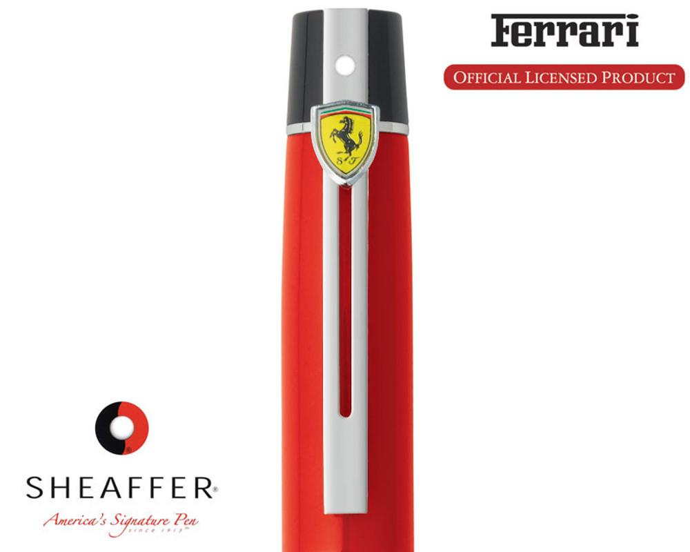 Sheaffer Ferrari 300 Red Rollerball Pen cap detail