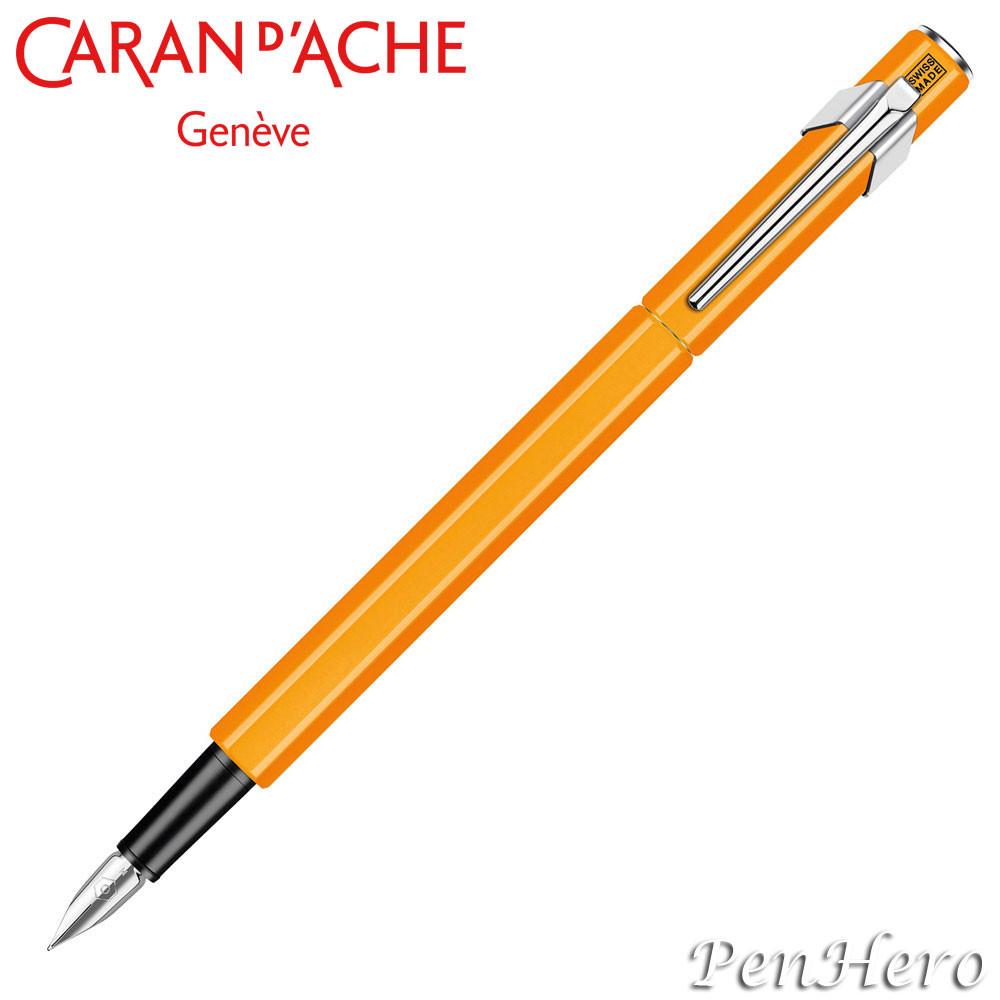 Caran d'Ache 849 Flourescent Orange Fountain Pen
