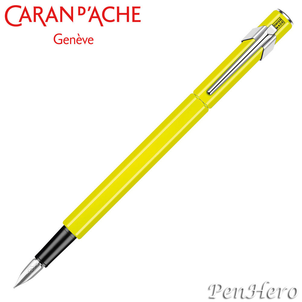 Caran d'Ache 849 Flourescent Yellow Fountain Pen