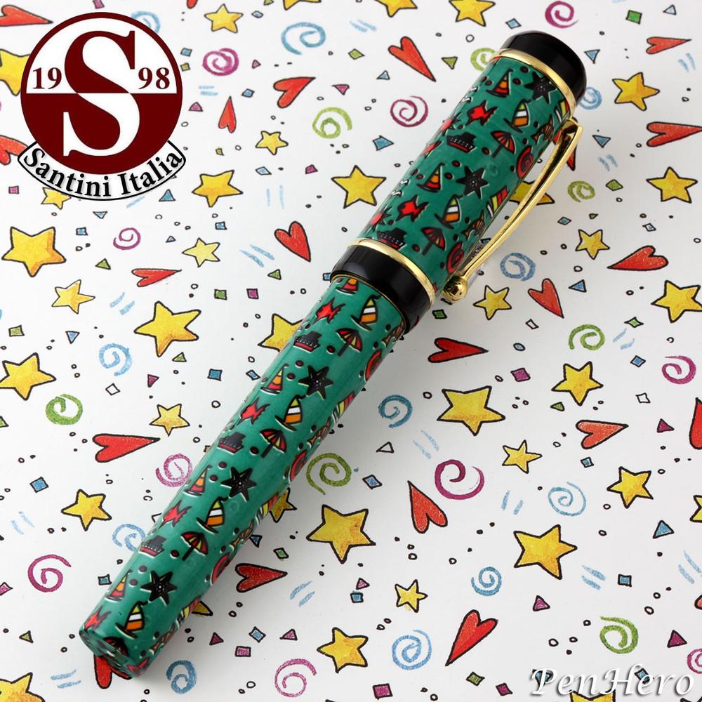 Santini Italia Hawaii Green Rollerball Pen