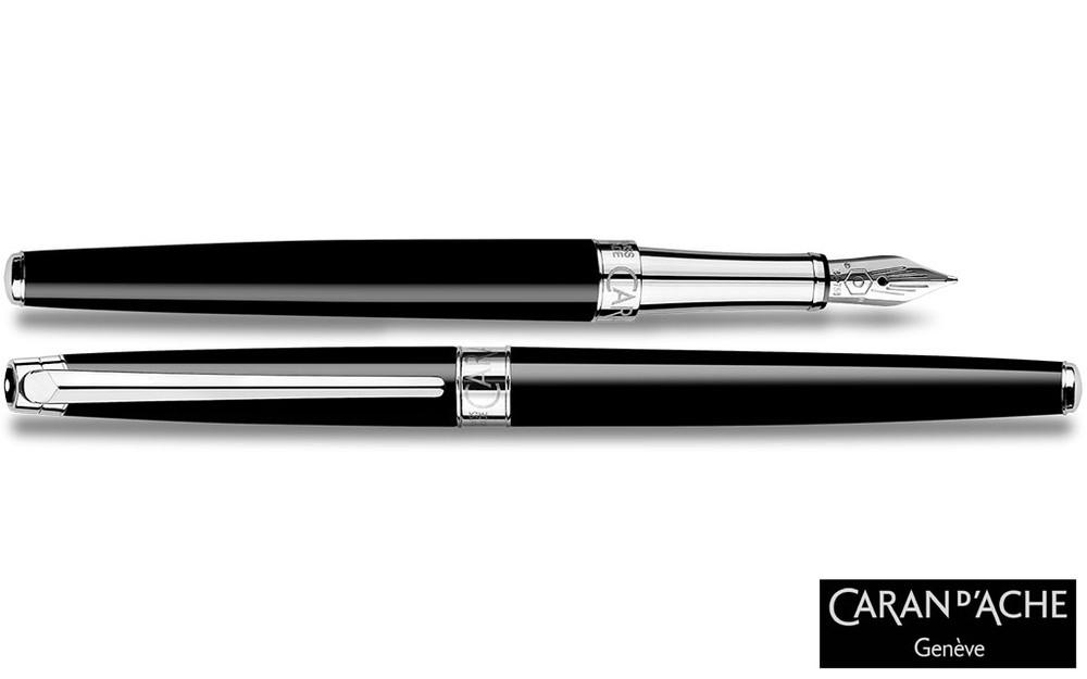 Caran d'Ache Leman Slim Black Ebony Fountain Pen