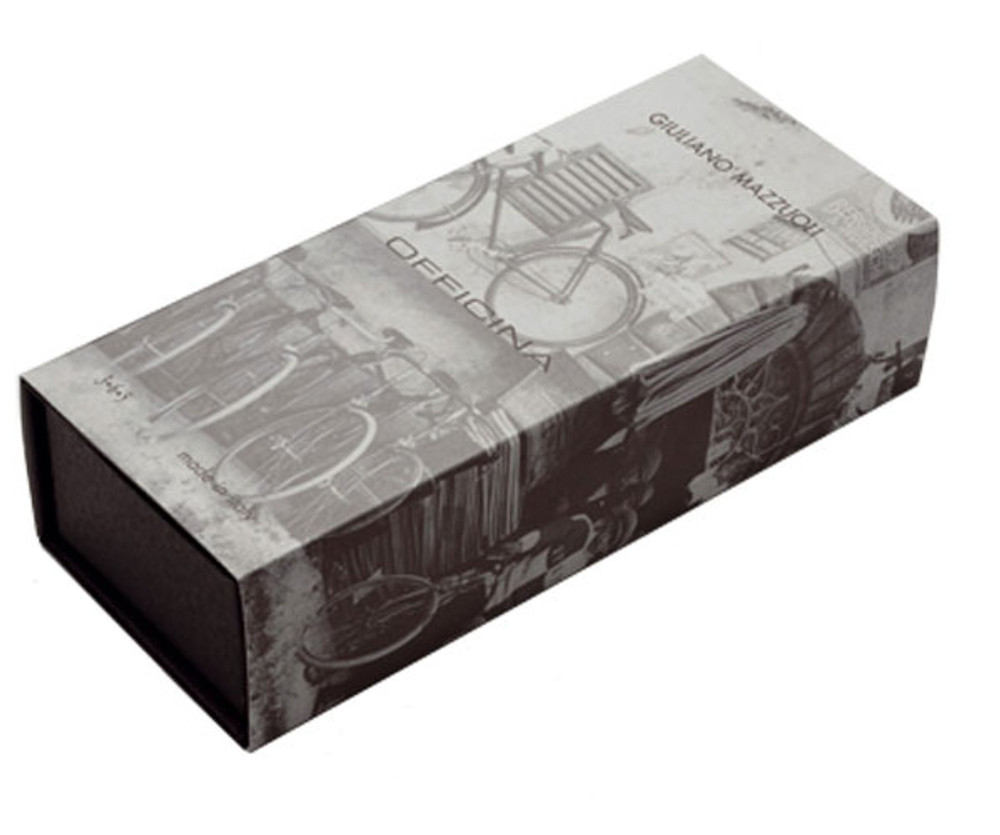 Giuliano Mazzuoli Officina Lima 3+1 Chrome & Orange Multifunction Pen gift box