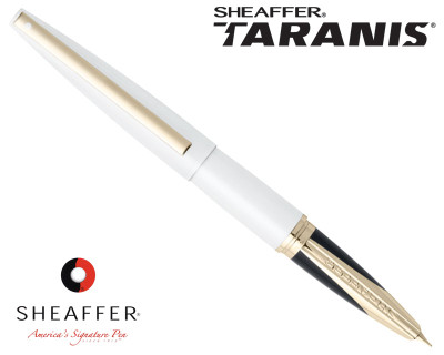 Sheaffer Taranis White Lightning Featuring Gold Plate Trim Fountain Pen