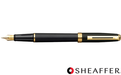 Sheaffer Prelude Black Matte G/T Fountain Pen