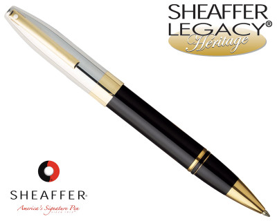 Sheaffer Legacy Heritage Palladium / Black Onyx Laque Rollerball Pen