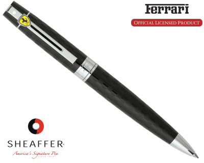 Sheaffer Ferrari 300 Checkered Flag Black Ballpoint Pen