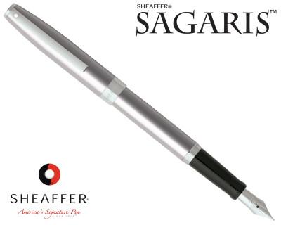 Sheaffer Sagaris Metallic Silver with Silver Trim Fountain Pen