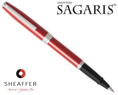 Sheaffer Sagaris Metallic Red with Silver Trim Rollerball Pen