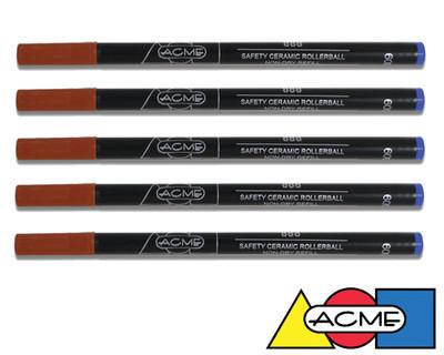 ACME Standard Rollerball Refills - Blue 5 Pack