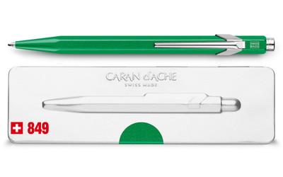 Caran d'Ache 849 POPLINE Metal-X Green Ballpoint Pen