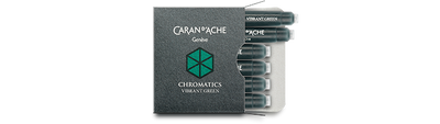 Caran d'Ache Vibrant Green Ink Cartridges