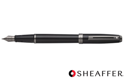 Sheaffer Prelude Black Lacquer Gunmetal Trim Fountain Pen