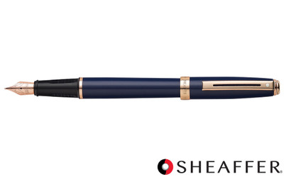 Sheaffer Prelude Cobalt Blue Rose Gold Trim Fountain Pen