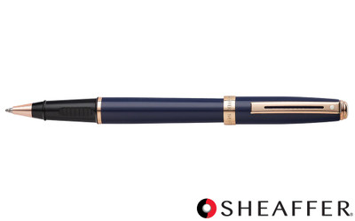 Sheaffer Prelude Cobalt Blue Rose Gold Trim Rollerball Pen