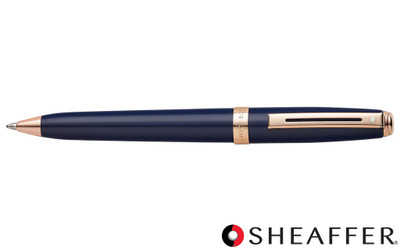 Sheaffer Prelude Cobalt Blue Rose Gold Trim Ballpoint Pen