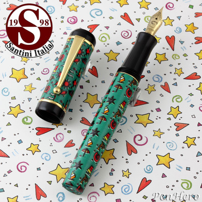 Santini Italia Hawaii Green Fountain Pen Fine