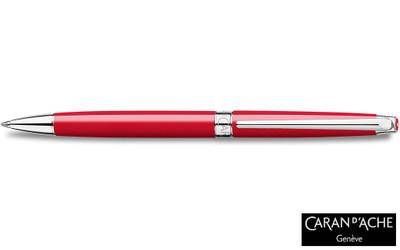 Caran d'Ache Leman Slim Scarlet Red Ballpoint Pen