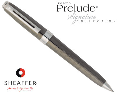 Sheaffer Prelude Signature Gunmetal Ceramic with Engraving Ballpoint Pen