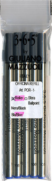 Giuliano Mazzuoli Officina Rollerball Refills Blue Medium 5 Pack