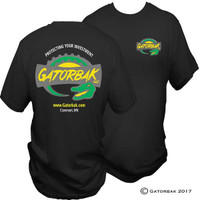 Fashionable gatorbak apparel - black t-shirts.