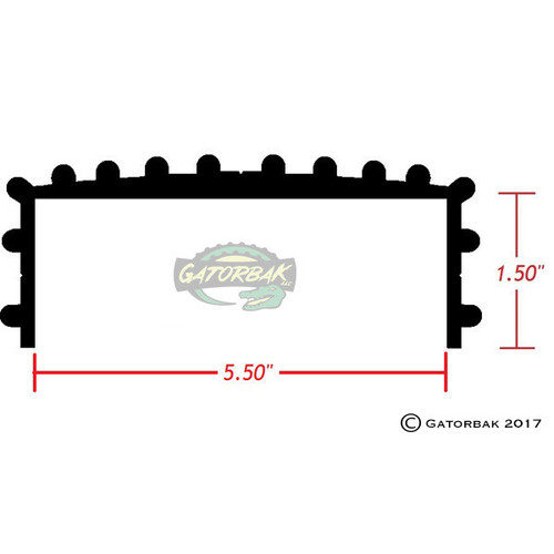Profile of the Gatorbak GB550 2x6 bunk cover.