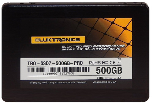 Eluktro Pro Performance 500GB SSD SATA III (6 GB/s) MLC 2.5-Inch 7mm Internal Solid State Drive