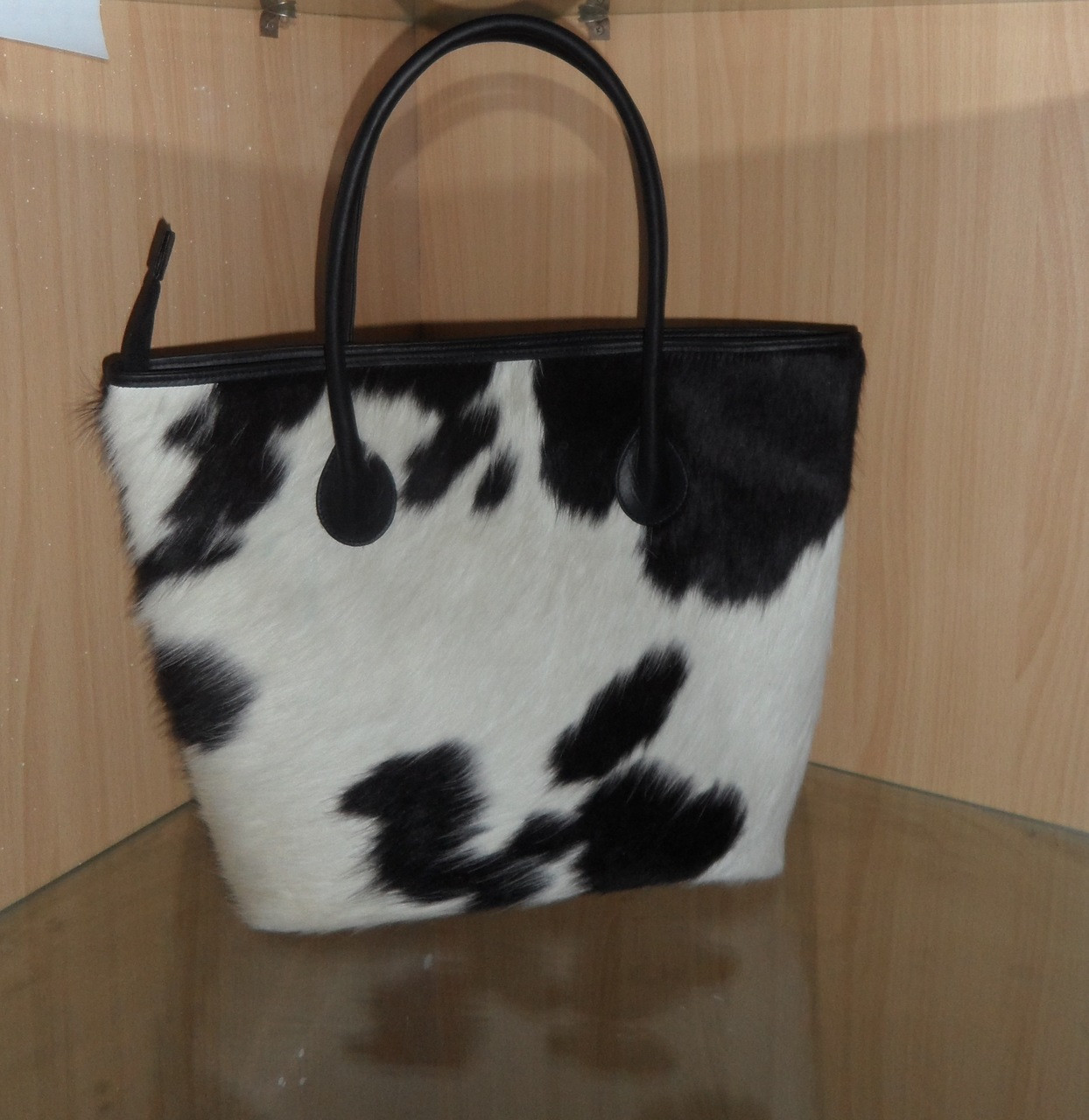 Large Black Spots On White Cowhide