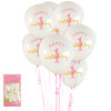 *6pk 1st Birthday in Pink Balloons