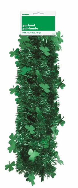 SHAMROCK TINSEL GARLAND 9ft