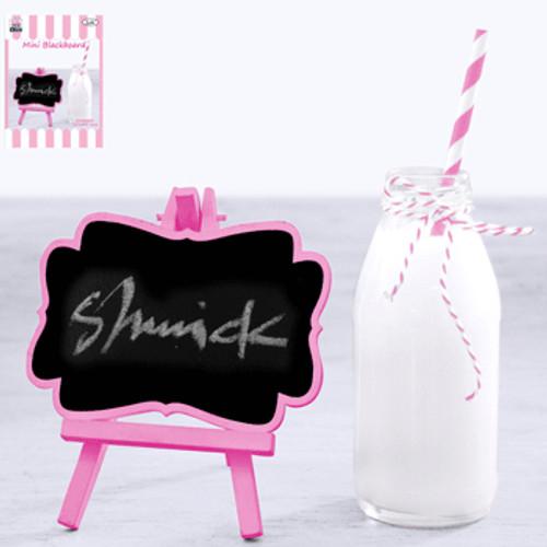 * 12.5x15cm Mini Blackboard - Pink