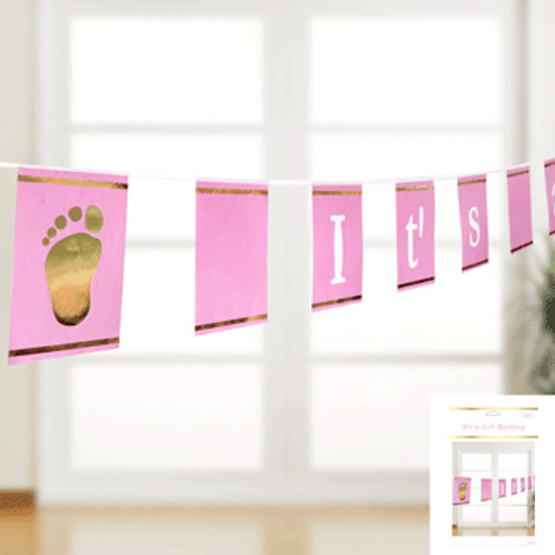 *It's a Girl Bunting in Pink