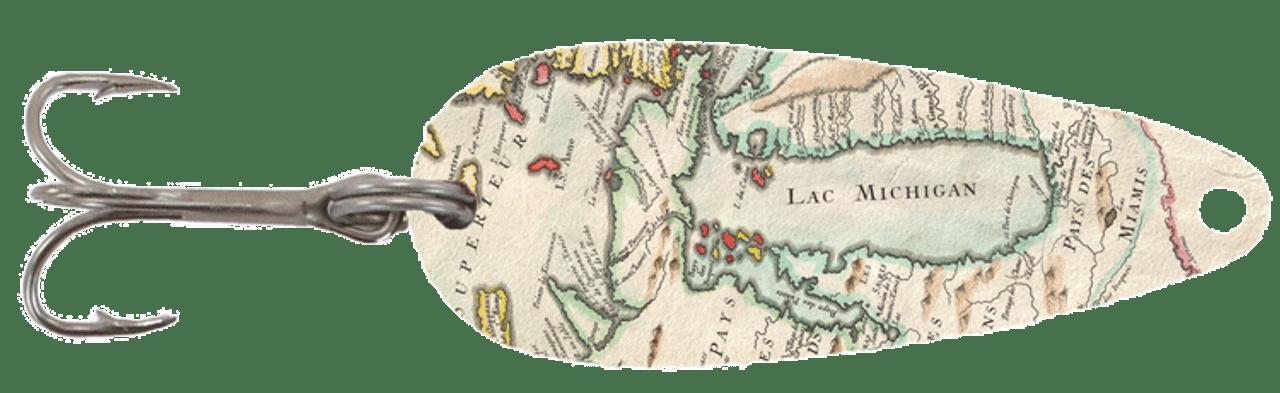 Lake Michigan Map Casting Spoon