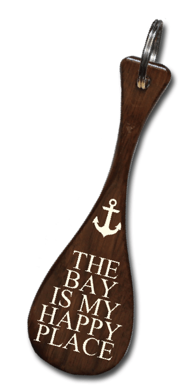 The Bay Is My Happy Place Mini Paddle Keychain