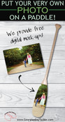 Personalised Family Sign Paddle
