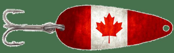 Vintage Canada Flag Casting Spoon