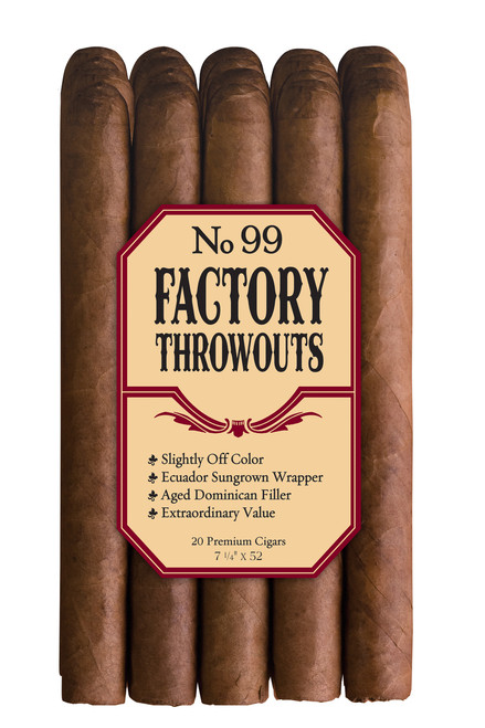 Factory Throwouts Regular No. 99