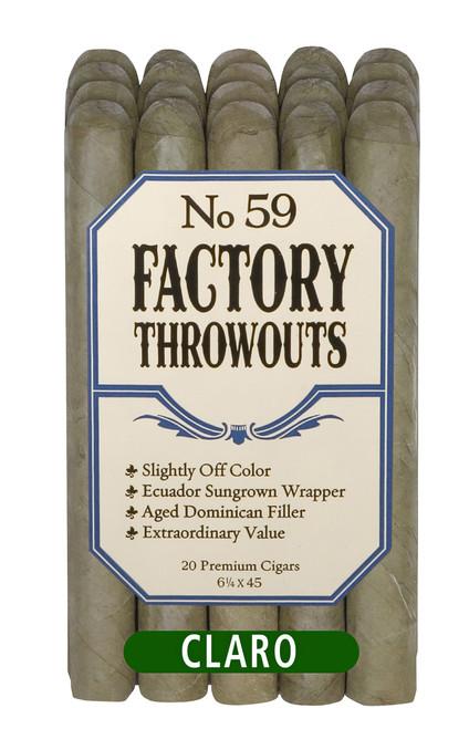 Factory Throwouts Claro No. 59